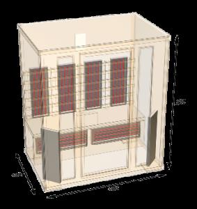Nobel sauna 180 afmetingen